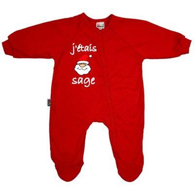 Pyjama bébé Noël : J'ÉTAIS SAGE