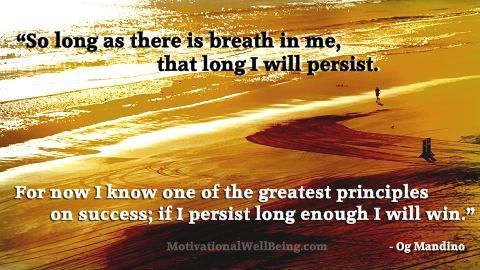 If you persist long enough, you will win! #motivation
