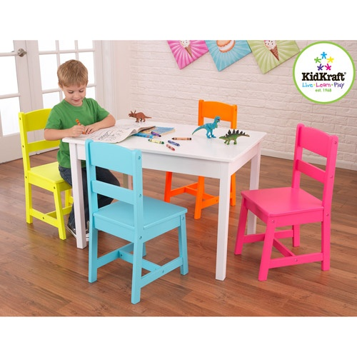 KidKraft Highlighter Table and Chairs Set: Kids' & Teen Rooms : Walmart.com