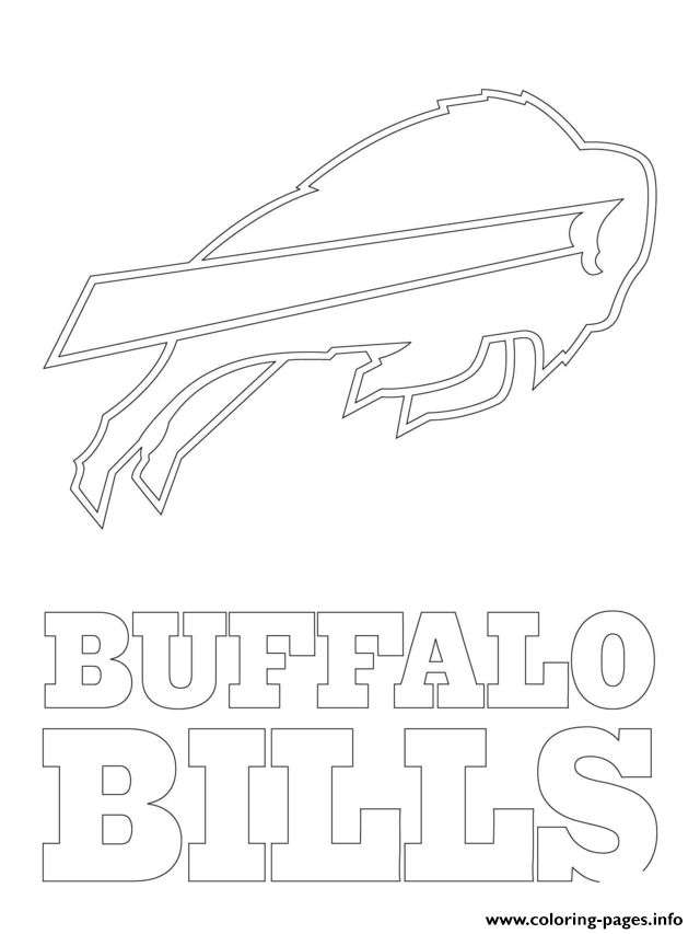 Print buffalo bills logo football sport coloring pages