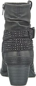 Black ankle boots with studded strap effect | Deichmann