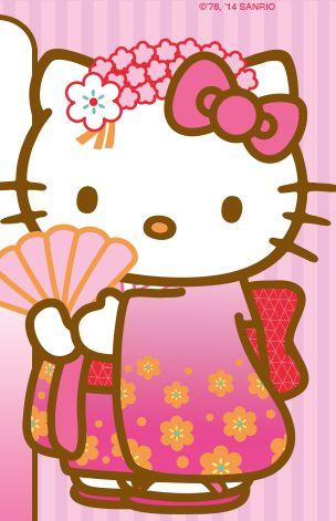 hello kitty in her kimono