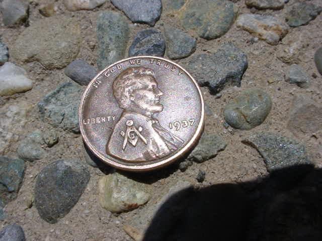 Mason symbol penny