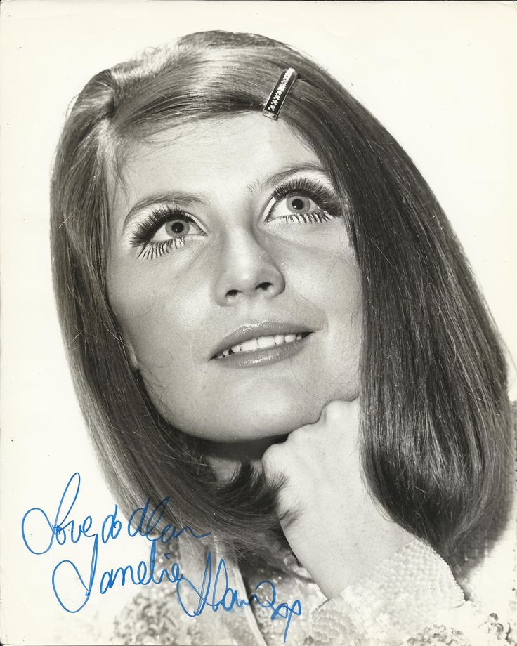 SHAW SANDIE: (1947-     ) English Singer, the first Briton to win the Eurovision Song Contest (1967). Signed and inscribed 8 x 10 photograph, a portrait study of the singer at the height of her career. Signed in blue ink to a clear area at the base of the image.