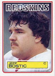 Washington Redskins Players all-time | Jeff Bostic 1983 Topps #187 Rookie Card - Washington Redskins