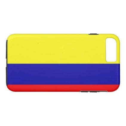 Colombia flag iPhone 8 plus/7 plus case - red gifts color style cyo diy personalize unique