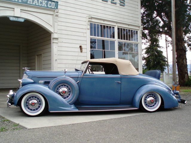 With The Top Up, 1936 Packard Convertible, Randy's Bomb Shop