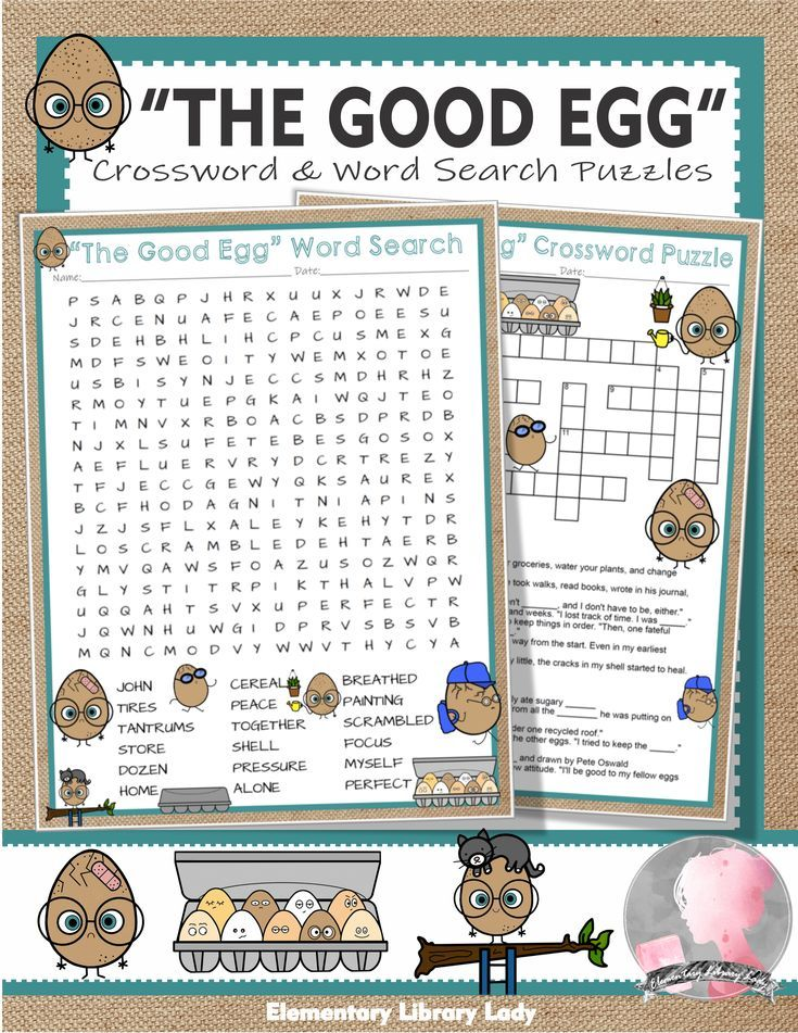 The Good Egg Activities Jory John Crossword Puzzle And Word