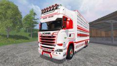 Scania R730 [cattle] v1.5 pour Farming Simulator 2015