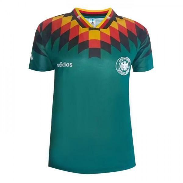 1994 Germany Away Green Thailand Soccer Jersey Retro Version Aaa Soccer Jersey World Cup Jerseys Football Shirts