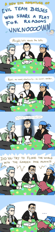 Evil Team Bosses ... pokemon