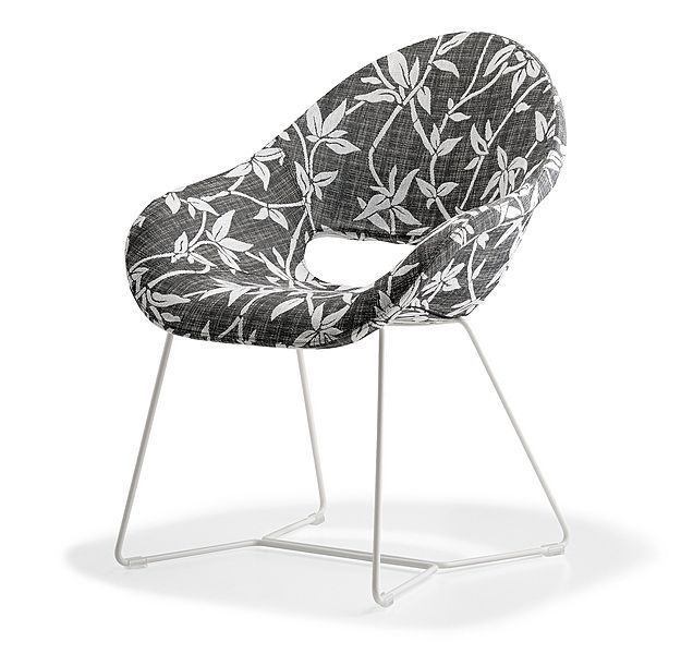 contemporary sled base armchair PALM SLED by Diplomat Design AREA DECLIC