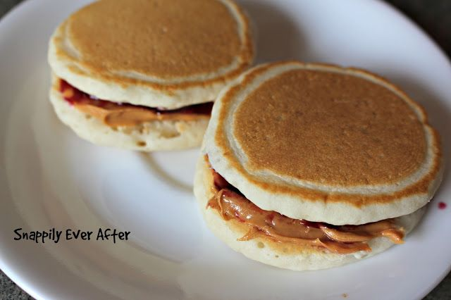 Snappily Ever After: Peanut Butter and Jelly Pancakes