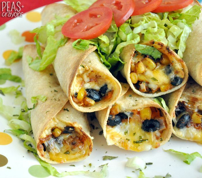 These savory baked black bean and sweet potato flautas are deliciously addictive! They're loaded with beans, cheese, & veggies & baked to crispy perfection!