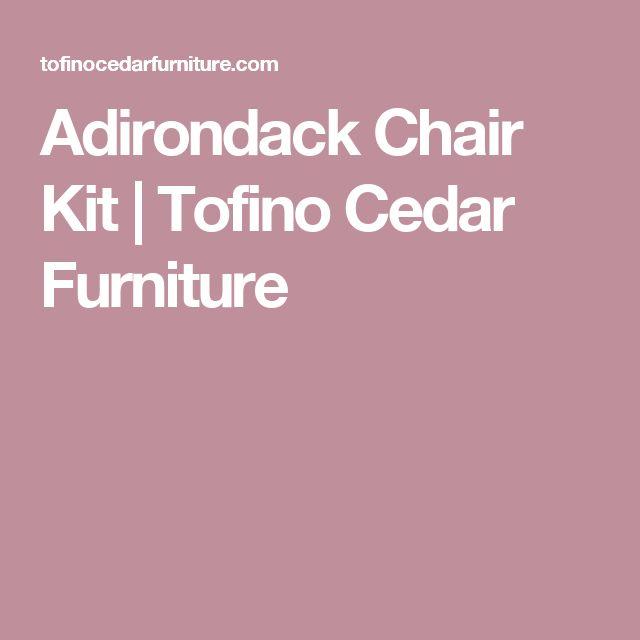 Adirondack Chair Kit | Tofino Cedar Furniture