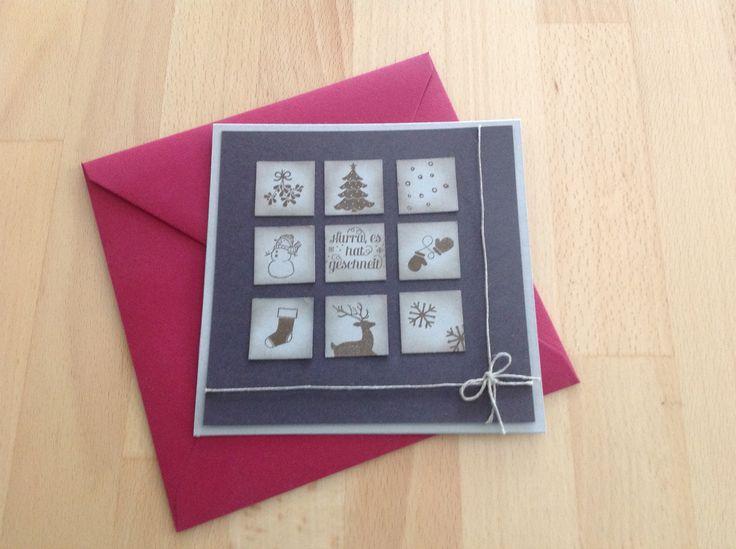 Stampin up Inchi Karte Weihnachten, Collage Christmas Card 2014 / 2015