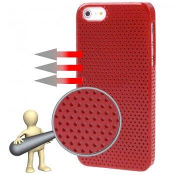 Red Circle Plastic iPhone Case