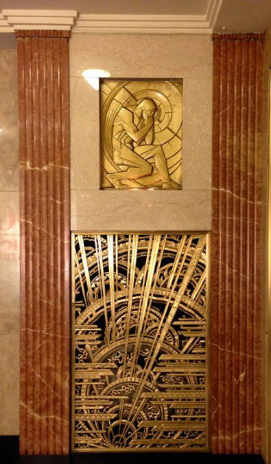 Art d co chanin building bronze rene chambellan bas relief et grille - Deco relief catalogue ...