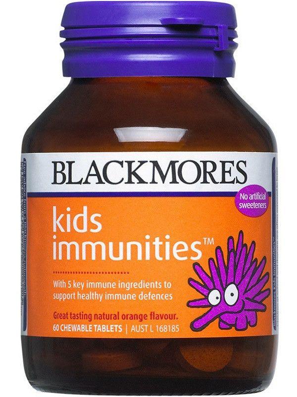 Blackmores Kids Immunities mengandung vitamin A,C, D, E dan Zinc yang dapat meningkatkan kekebalan tubuh: A, D, E dan Zinc. Tersedia dalam tablet yang dapat dikunyah dan rasa yang enak. Per botol 60 tablet. Harga Rp 210.000,- di luar ongkir TIKI/JNE. Ready Stock!