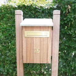 Afbeeldingsresultaat voor brievenbus van hout