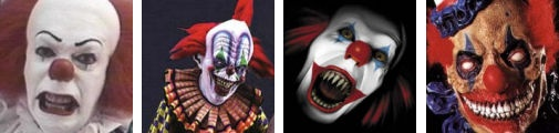 Lot's of evil clown pictures!