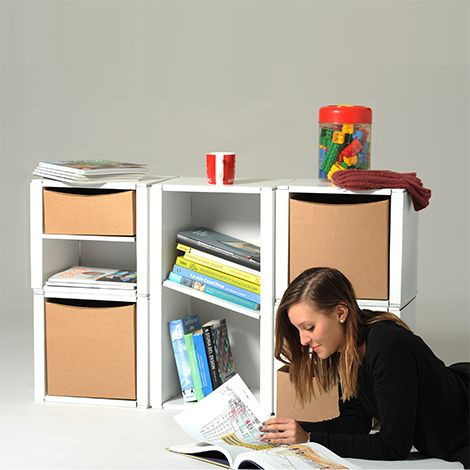 Modulo libreria componibile in cartone | 2/Cube | Eco and You
