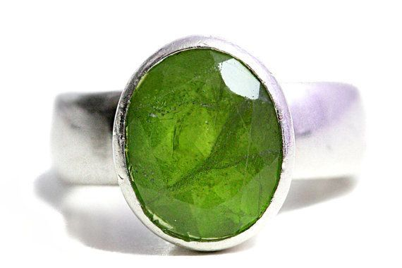 Peridot Ring Gemstones Silver Jewelry green Gem by Tezsahcom https://www.etsy.com/listing/252745734/peridot-ring-gemstones-silver-jewelry?ref=rss