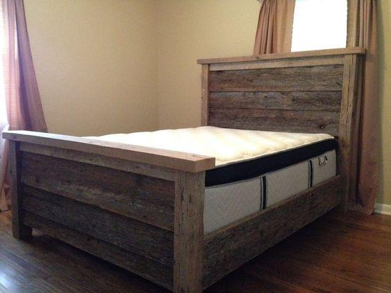 most popular of diy queen bed frame queen size best furniture design and ideas - Diy Queen Bed Frame