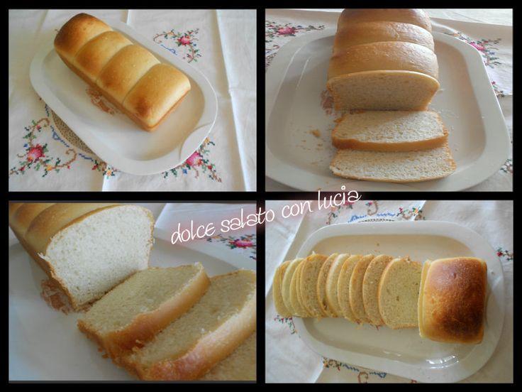 Pan bauletto allo yogurt senza uova e burro. Pan bauletto bicolore