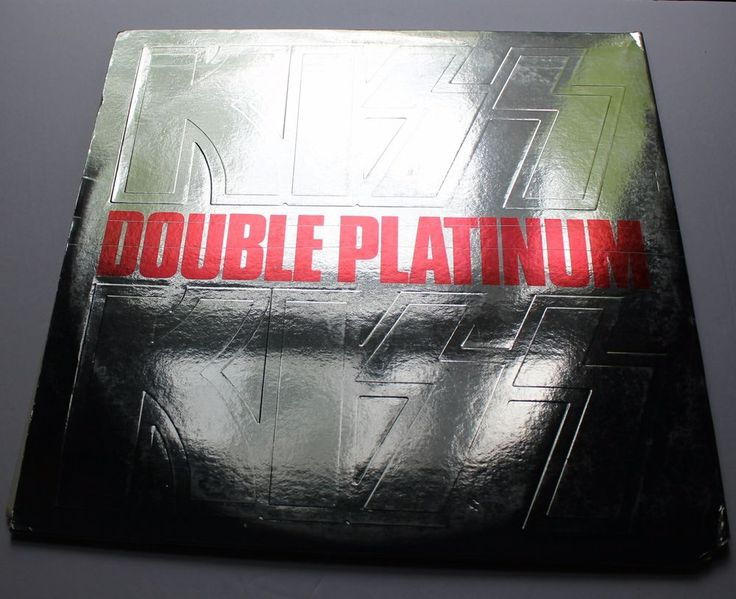 Kiss Double Platinum Original  2 LP Chrome Gatefold 1978 w/ Insert / silvr label BUY IT NOW #VintageKISS #KissBand #Ebay