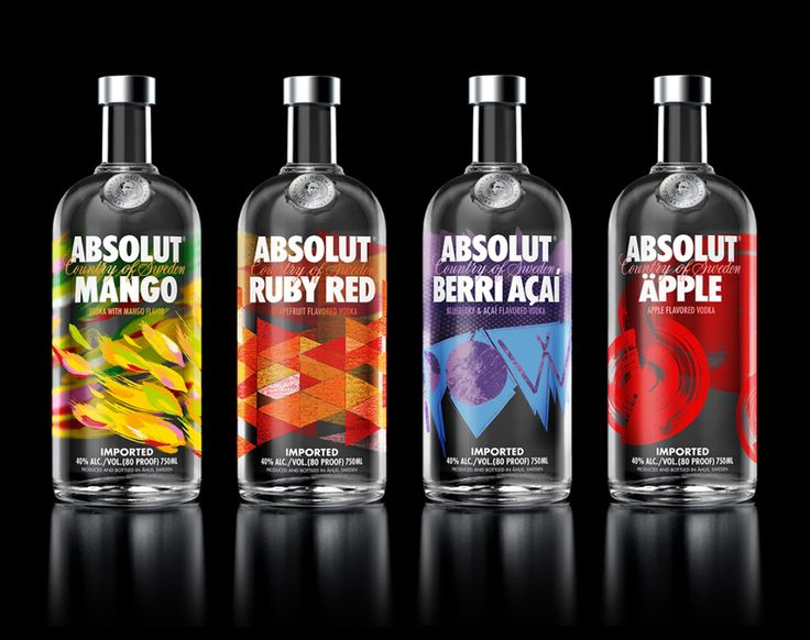 packaging design | absolut´s flavour range | by the brand union