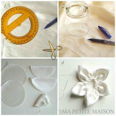 Tutorial per realizzare fior di loto in raso by Ma Petite Maison