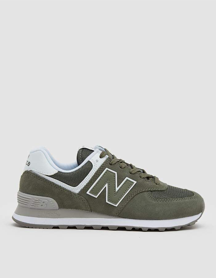 New Balance Women/'s W574 Core Sneaker Grey//White Suede//Mesh