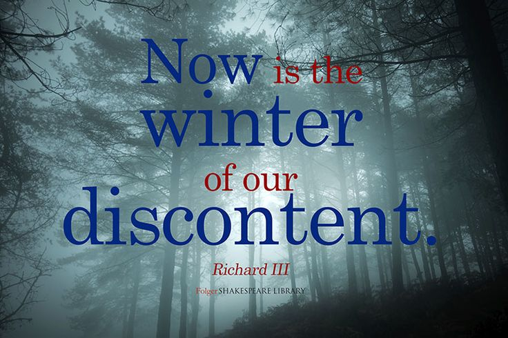 analysis of richard iii s winter of Discussion of themes and motifs in william shakespeare's richard iii enotes critical analyses help you gain a deeper understanding of richard iii so you can excel on your essay or test.