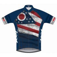 Ironman Zoot Men's Ohio Flag Cycle Jersey, X-Large
