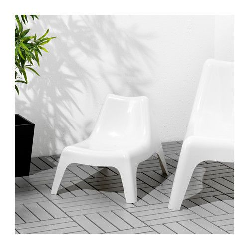 BUNSÖ Children's chair, outdoor, white white -