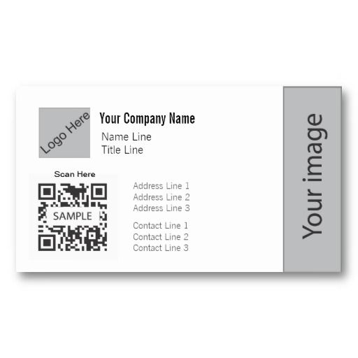 21 best qr code business cards images on pinterest business card business card template generic 1 colourmoves