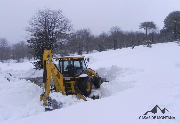 Eso si se llama trabajar en la nieve.