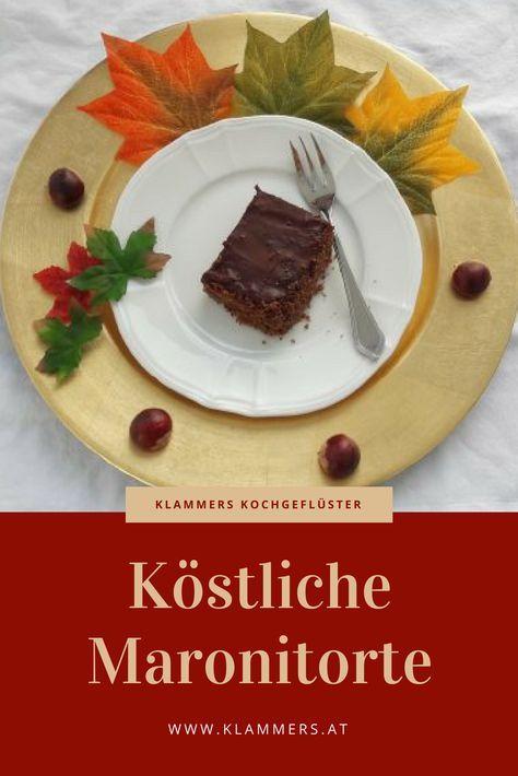 Rezept für Maronitorte. #glutenfrei #backen #rezept #maroni #dessert