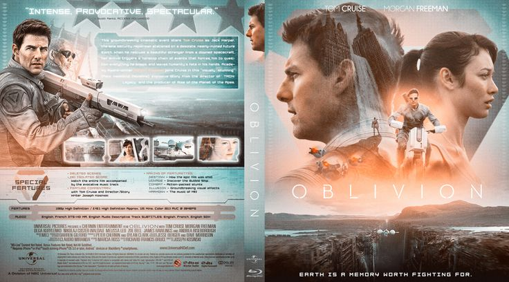 Oblivion Blu-ray Custom Cover