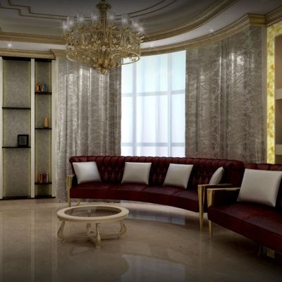 Luxury Modern Interior Family Sitting Designs House Wall Decoration