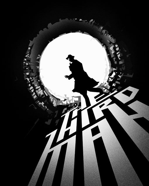 """""""The Third Man"""" starring Joseph Cotton, Alida Valli, Orson Welles and Trevor Howard. Directed by Carol Reed. (1949)"""