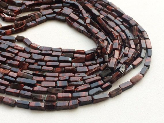 Red Tigers Eye Beads Natural Red Tigers Eye by gemsforjewels