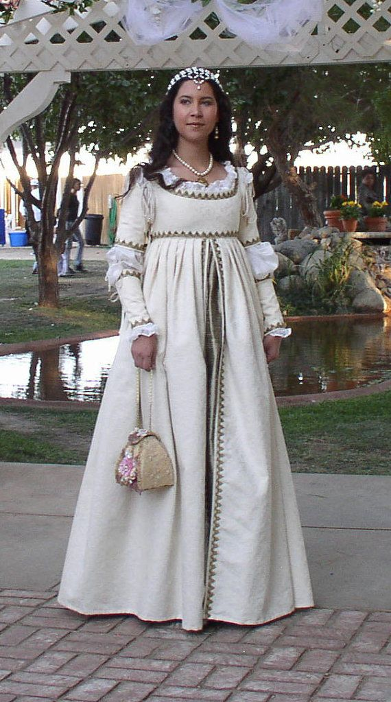 Italian Renaissance Faire Medieval SCA Wedding or Court Gown CUSTOM. $325.00, via Etsy.