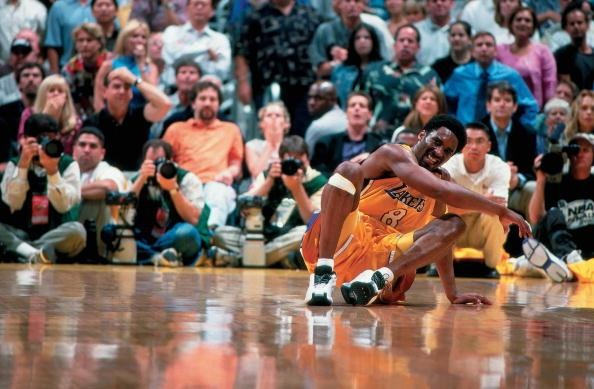 2000 NBA Finals Game 2 Indiana Pacers vs. Los Angeles Lakers   sprained left ankle