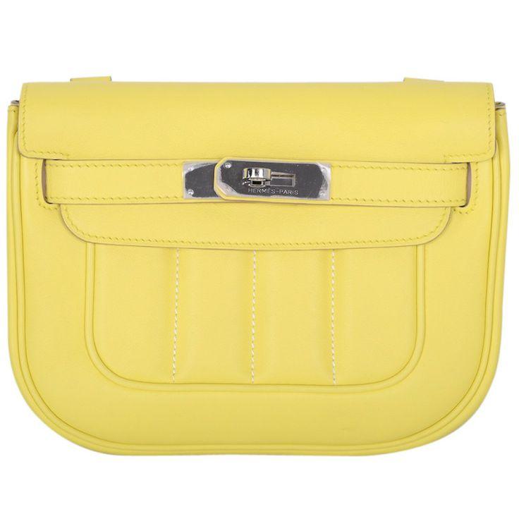 NEW BAG! HERMES BERLINE BAG MINI SOUFRE Swift Leather CROSS BODY ...