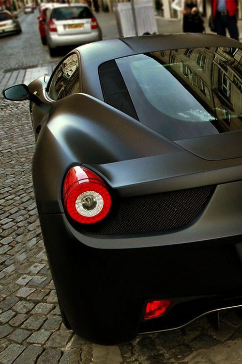 Matte Black Ferrari 458 Italia.