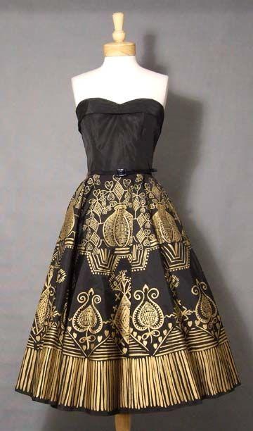 1950's vintage cocktail dress.
