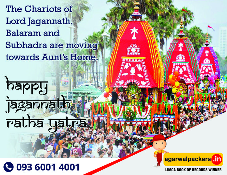The world famous Rath Yatra or chariot festival of Lord Jagannath, Balabhadra, Subhadra and Sudarshana on a chariot will begin today at Puri in Odisha. #JagannathRathYatra  #JagannathaRathaJatra #PuriJagannath #travel #India #IncredibleIndia #RathYatra  #Puri #Odisha #TempleConnect #Relocation #Shifting #Residential #Offering #Householdpackers #Bangalore #Delhi #Mumbai #pune #hyderabad #Gurgaon #secunderabad #chennai