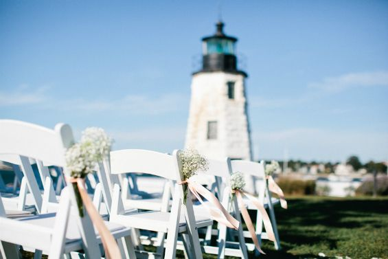 Nautical wedding at the Hyatt Regency in Newport, Rhode Island. Photos by Erin McGinn via Snippet & Ink